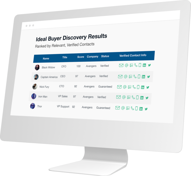 B2B Contact Discovery for Sales and Marketing