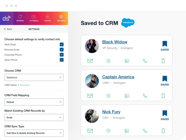 Contacts Saved to CRM
