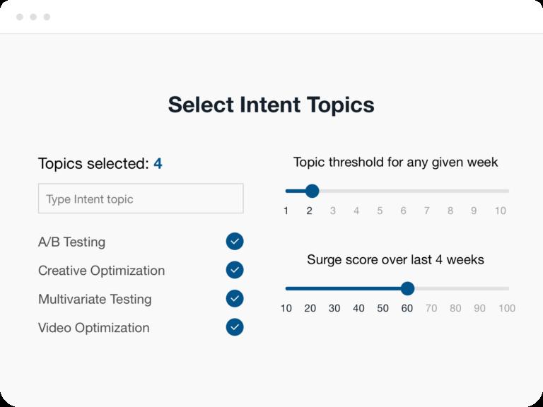 Select Intent Topics