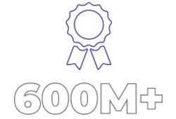 More than 600 million
